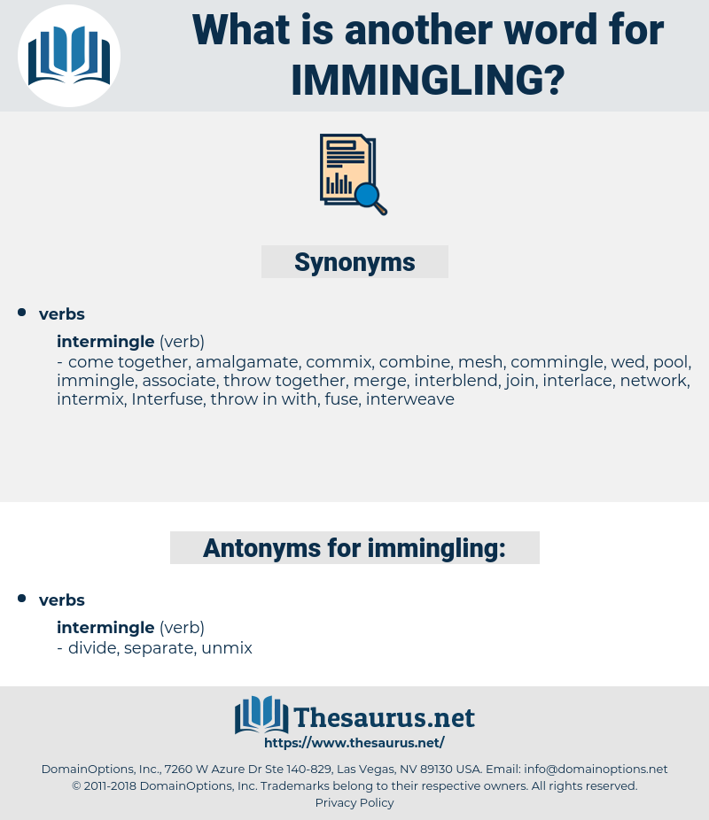 immingling, synonym immingling, another word for immingling, words like immingling, thesaurus immingling