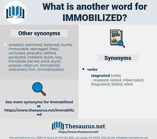 immobilized, synonym immobilized, another word for immobilized, words like immobilized, thesaurus immobilized