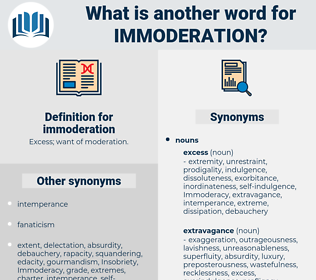 immoderation, synonym immoderation, another word for immoderation, words like immoderation, thesaurus immoderation