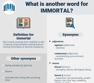 immortal, synonym immortal, another word for immortal, words like immortal, thesaurus immortal