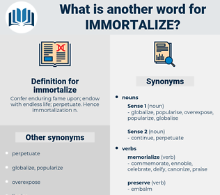 immortalize, synonym immortalize, another word for immortalize, words like immortalize, thesaurus immortalize
