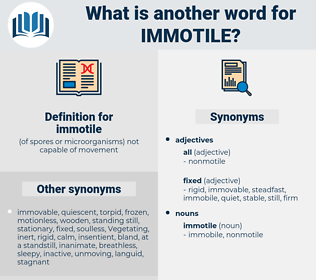 immotile, synonym immotile, another word for immotile, words like immotile, thesaurus immotile