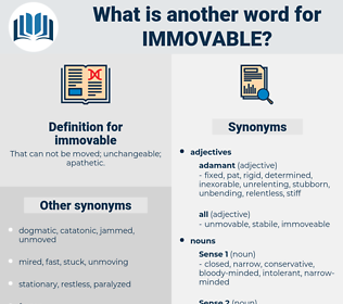 immovable, synonym immovable, another word for immovable, words like immovable, thesaurus immovable