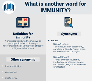 immunity, synonym immunity, another word for immunity, words like immunity, thesaurus immunity