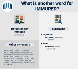 Immured, synonym Immured, another word for Immured, words like Immured, thesaurus Immured