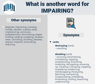 Impairing, synonym Impairing, another word for Impairing, words like Impairing, thesaurus Impairing