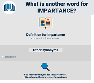 Impartance, synonym Impartance, another word for Impartance, words like Impartance, thesaurus Impartance