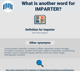 Imparter, synonym Imparter, another word for Imparter, words like Imparter, thesaurus Imparter