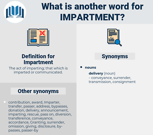 Impartment, synonym Impartment, another word for Impartment, words like Impartment, thesaurus Impartment
