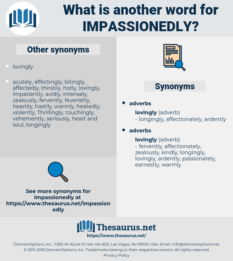 impassionedly, synonym impassionedly, another word for impassionedly, words like impassionedly, thesaurus impassionedly