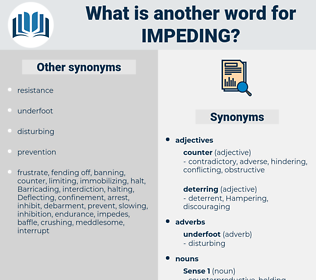 impeding, synonym impeding, another word for impeding, words like impeding, thesaurus impeding