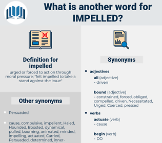 impelled, synonym impelled, another word for impelled, words like impelled, thesaurus impelled