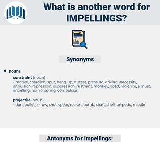 impellings, synonym impellings, another word for impellings, words like impellings, thesaurus impellings