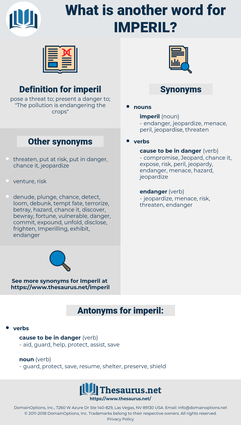 imperil, synonym imperil, another word for imperil, words like imperil, thesaurus imperil