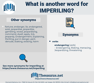 Imperiling, synonym Imperiling, another word for Imperiling, words like Imperiling, thesaurus Imperiling