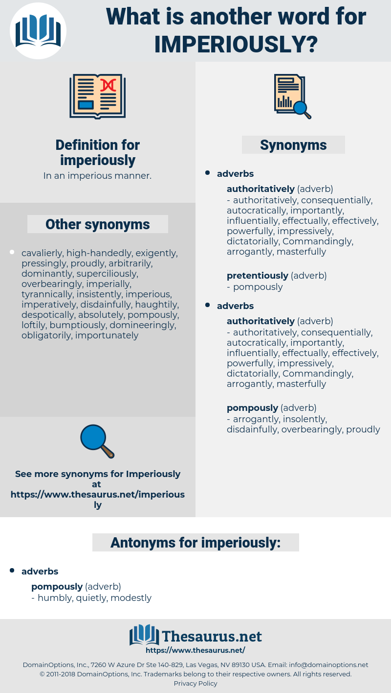 imperiously, synonym imperiously, another word for imperiously, words like imperiously, thesaurus imperiously