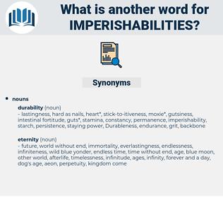 imperishabilities, synonym imperishabilities, another word for imperishabilities, words like imperishabilities, thesaurus imperishabilities