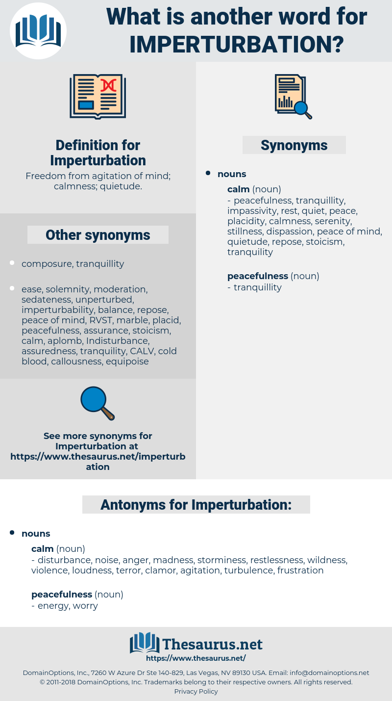 Imperturbation, synonym Imperturbation, another word for Imperturbation, words like Imperturbation, thesaurus Imperturbation
