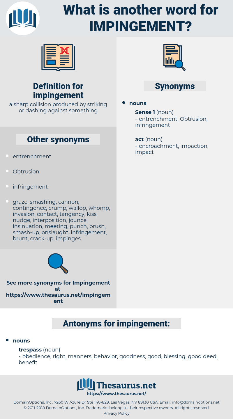 impingement, synonym impingement, another word for impingement, words like impingement, thesaurus impingement