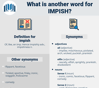 impish, synonym impish, another word for impish, words like impish, thesaurus impish
