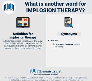 implosion therapy, synonym implosion therapy, another word for implosion therapy, words like implosion therapy, thesaurus implosion therapy