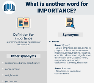 importance, synonym importance, another word for importance, words like importance, thesaurus importance