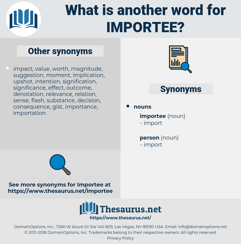 importee, synonym importee, another word for importee, words like importee, thesaurus importee