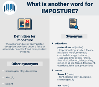 imposture, synonym imposture, another word for imposture, words like imposture, thesaurus imposture