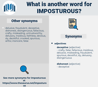 Imposturous, synonym Imposturous, another word for Imposturous, words like Imposturous, thesaurus Imposturous