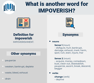 impoverish, synonym impoverish, another word for impoverish, words like impoverish, thesaurus impoverish