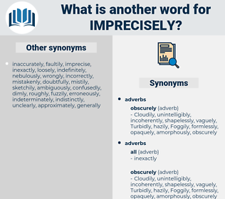 imprecisely, synonym imprecisely, another word for imprecisely, words like imprecisely, thesaurus imprecisely