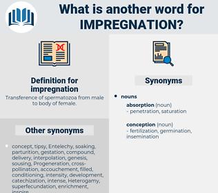 impregnation, synonym impregnation, another word for impregnation, words like impregnation, thesaurus impregnation