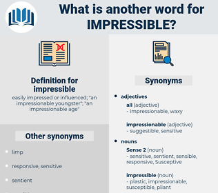impressible, synonym impressible, another word for impressible, words like impressible, thesaurus impressible