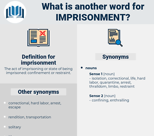 imprisonment, synonym imprisonment, another word for imprisonment, words like imprisonment, thesaurus imprisonment