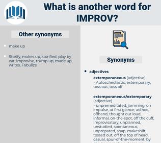 IMPROV, synonym IMPROV, another word for IMPROV, words like IMPROV, thesaurus IMPROV