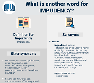 Impudency, synonym Impudency, another word for Impudency, words like Impudency, thesaurus Impudency