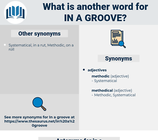 in a groove, synonym in a groove, another word for in a groove, words like in a groove, thesaurus in a groove