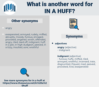 in a huff, synonym in a huff, another word for in a huff, words like in a huff, thesaurus in a huff