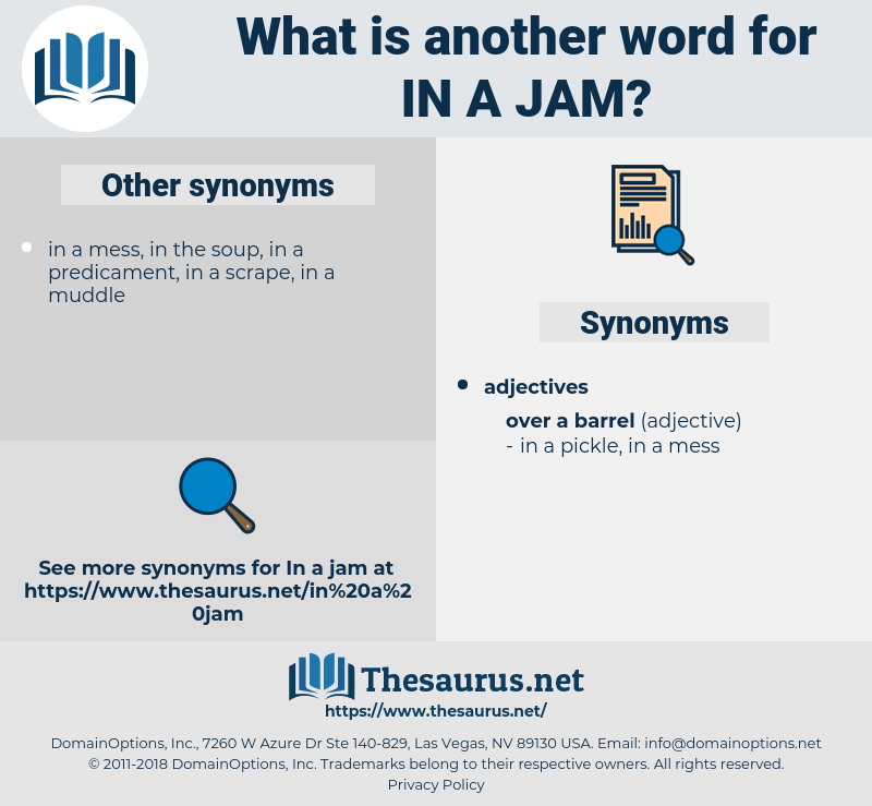 in a jam, synonym in a jam, another word for in a jam, words like in a jam, thesaurus in a jam