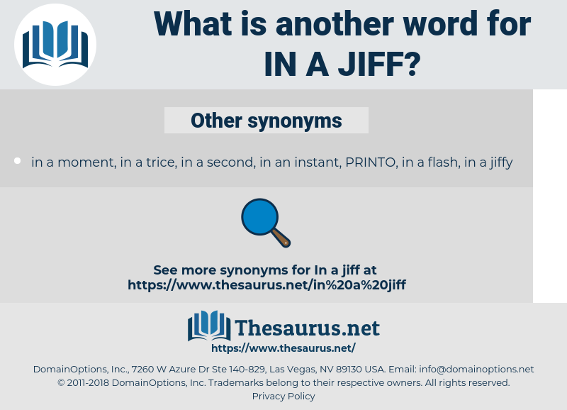 in a jiff, synonym in a jiff, another word for in a jiff, words like in a jiff, thesaurus in a jiff