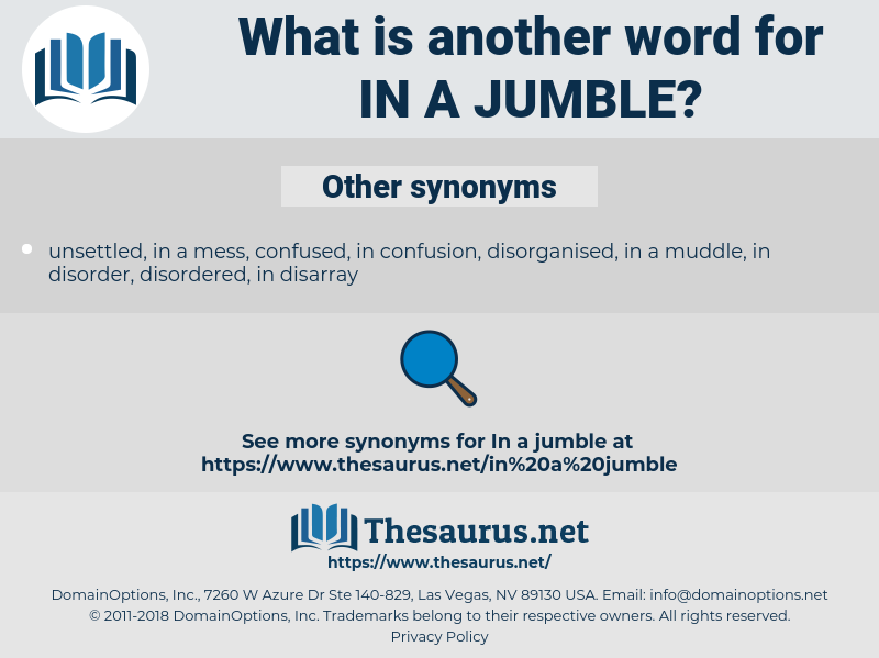 in a jumble, synonym in a jumble, another word for in a jumble, words like in a jumble, thesaurus in a jumble