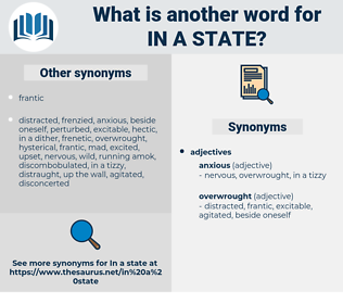 in a state, synonym in a state, another word for in a state, words like in a state, thesaurus in a state