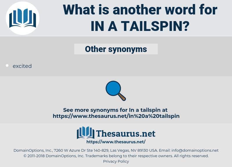 in a tailspin, synonym in a tailspin, another word for in a tailspin, words like in a tailspin, thesaurus in a tailspin
