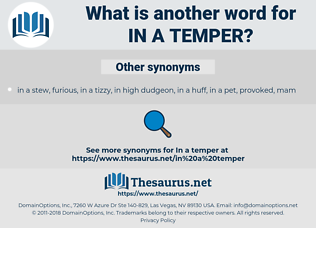 in a temper, synonym in a temper, another word for in a temper, words like in a temper, thesaurus in a temper