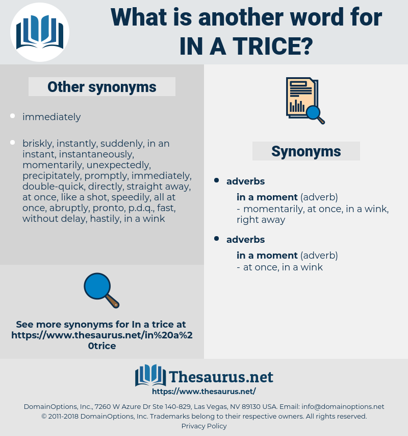 in a trice, synonym in a trice, another word for in a trice, words like in a trice, thesaurus in a trice