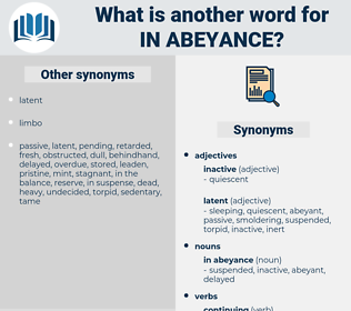 in abeyance, synonym in abeyance, another word for in abeyance, words like in abeyance, thesaurus in abeyance