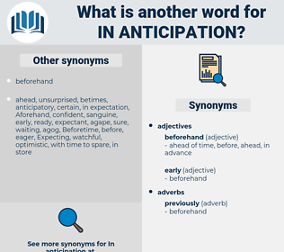 in anticipation, synonym in anticipation, another word for in anticipation, words like in anticipation, thesaurus in anticipation