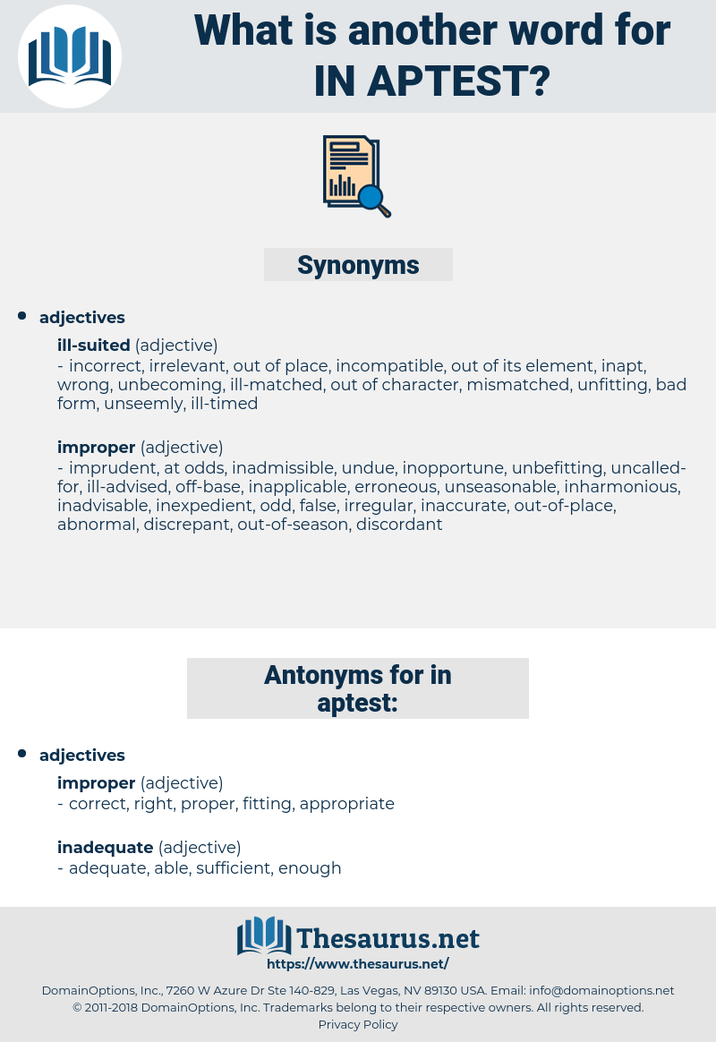 in-aptest, synonym in-aptest, another word for in-aptest, words like in-aptest, thesaurus in-aptest