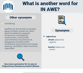 in awe, synonym in awe, another word for in awe, words like in awe, thesaurus in awe