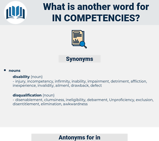 in competencies, synonym in competencies, another word for in competencies, words like in competencies, thesaurus in competencies